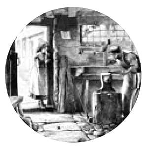 alfombrilla de ratón Herrero en su taller - ronda - 20cm