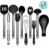 Kitchen Utensils Sets Omocook 10-pc. Essential Cooking Utensils Gadget Set Stainless Steel and Black