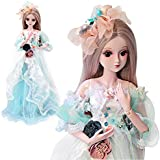 Littleice Realistic BJD Doll Christmas 60cm Silicone Reborn Princess Baby Bride Doll Lifelike Soft Vinyl Silicone Doll Xmas Gift Children Present (D)