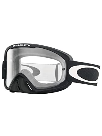 oakley clear lenses 91qz  Oakley O2 MX Men's Goggles Matte Black Frame/Clear Lens