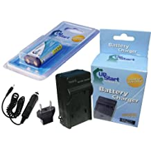 Olympus D530 Battery and Charger with Car Plug and EU Adapter - Replacement for Olympus CR-V3 Digital Camera Batteries and Chargers (1300mAh, 3.3V, Lithium-Ion)