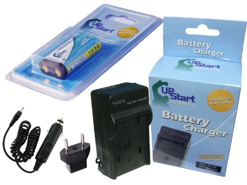 (Replacement for Samsung Digimax A4 Battery and Charger with Car Plug and EU Adapter - Compatible with Samsung CR-V3 Digital Camera Batteries and Chargers (1300mAh 3.3V Lithium-Ion))