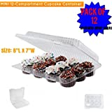 MINI Cupcake/Muffin Container 12 Compartment pack of (12)