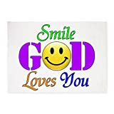 5' x 7' Area Rug Smile God Loves You