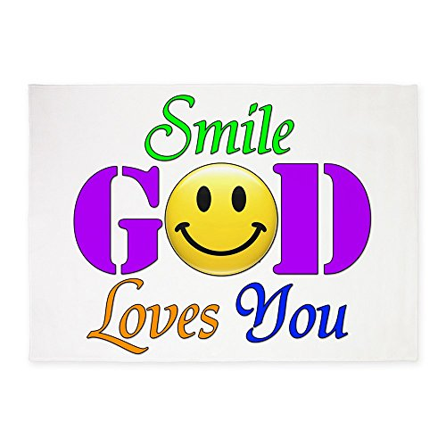 5' x 7' Area Rug Smile God Loves You by Royal Lion