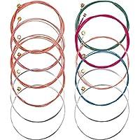 Bememo 2 Sets of 6 Guitar Strings Replacement Steel...