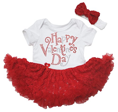 Valentine Leopard Love White Bodysuit Girls Red Romantic Rose Baby Dress Nb-18m Keep You Fit All The Time Clothing, Shoes & Accessories