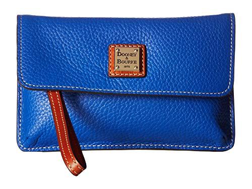 - Dooney & Bourke Women's Pebble Milly Wristlet French Blue/Tan Trim One Size