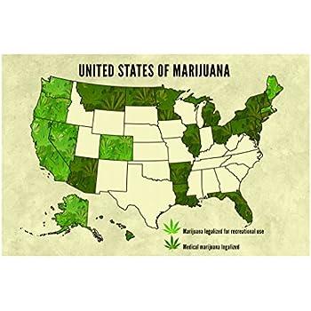 Amazoncom United States Of Marijuana Legalization Updated - Weed legalization us map