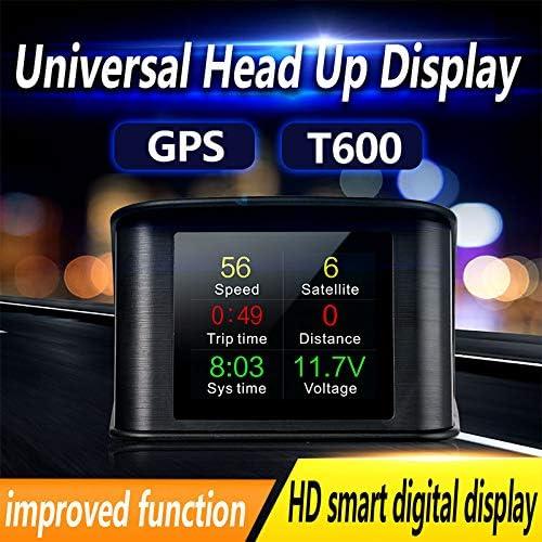 Alician T600 Automobile GPS Computer Car Digital OBD Driving Speedometer Mileage Fuel Voltage Temperature TFT HUD Display