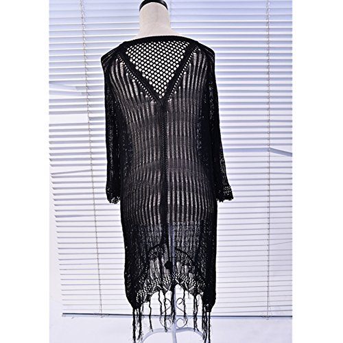 Robe de Plage Femme Été XAGOO Sexy Lace Cache Bikini Maillot de bain (Style 5)