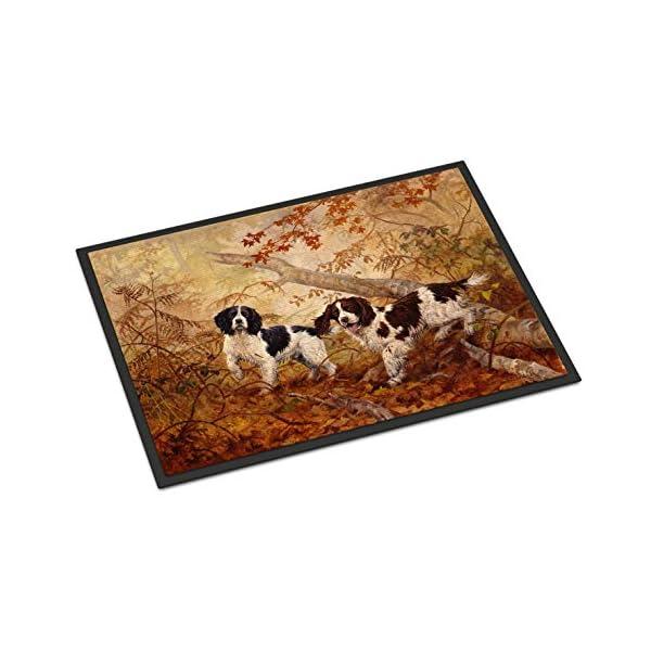 Caroline's Treasures HEH0139MAT Springer Spaniels by Elizabeth Halstead Indoor or Outdoor Mat 18x27, 18H X 27W, Multicolor 1