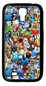Cartoon Characters Custom Designer Samsung Galaxy S4 SIV I9500 Case Cover - Polycarbonate - Black