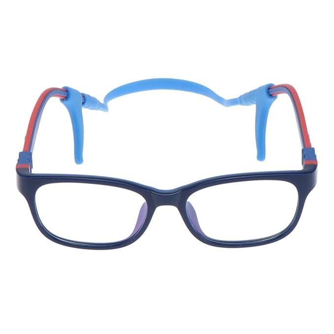 0d9c4020340f0 Juleya Kinder Gläser Rahmen - TR90 + Silikon - Kinder Brillen Clear Lens  Retro Reading Eyewear