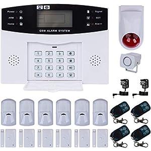 House Alarm, Discoball GSM Home Alarm System Wireless Auto Dial Intruder Alarm with Remote Controller, PIR Motion Sensor…