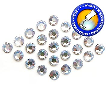 50 SWAROVSKI ELEMENTS Strass Steine HOTFIX *CRYSTAL* />SS5