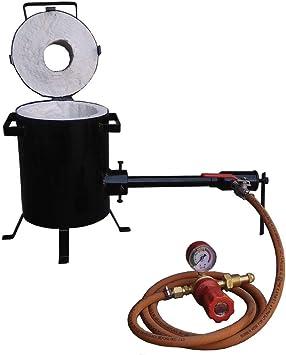 Hornos de fusión de propano de 4 kg de metal precioso, fundición ...