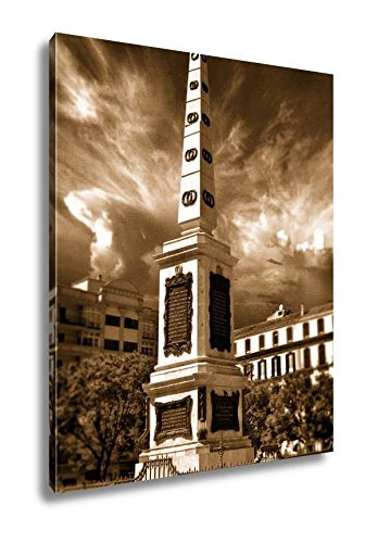 Ashley Canvas Merced Square Plaza De La Merced In Malaga Spain, Home Office, Ready to Hang, Sepia 25x20, AG6043996 by Ashley Canvas
