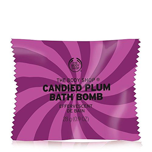 Price comparison product image The Body Shop Candied Plum Bath Bomb, Fizzing Bubble Bath, 28g