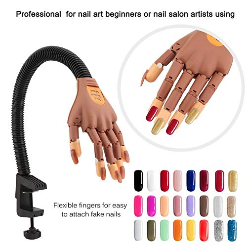 Adjustable Nail Art Practice Hand Training Learning Model Hand Prosthetic Personal Salon Manicure Art Tool Deniseonuk