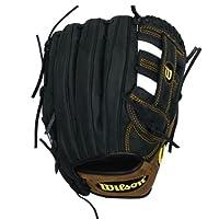 Wilson Pro Soft Yak Infield Baseball Glove, Right Hand Throw (Black/Brown), 11.75-Inch