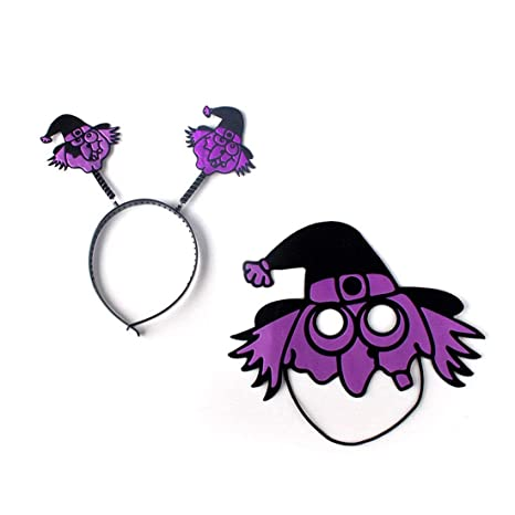 Decoraciones de Halloween Niños Halloween Banda para la cabeza Máscara Horrible Mascarada Baile Fiestas Bruja Calavera