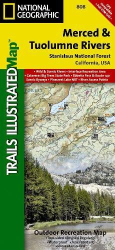 Merced and Tuolumne Rivers [Stanislaus National Forest] (National Geographic Trails Illustrated - Mercedes Map Outlets