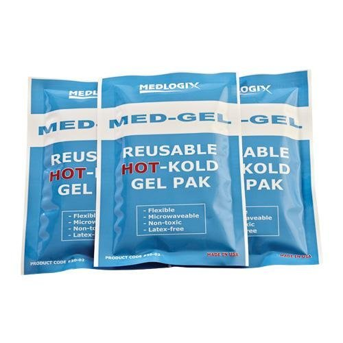 Medlogix Med-Gel reusable HOT-Kold Gel Pak 4 x 6 Inch (One Dozen) (Reusable Gel Hot Kold)