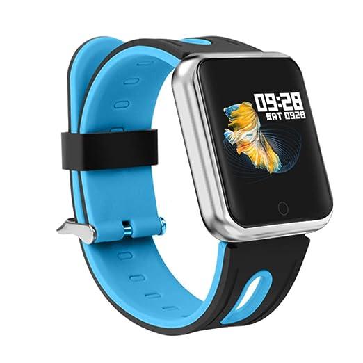 TechCode Bluetooth Smartwatch, Oxígeno sanguíneo Monitor de presión Arterial Monitor de frecuencia cardíaca Rastreador de Actividad Inteligente ...