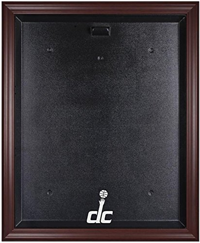 Washington Wizards Mahogany Finished Logo Jersey Display Case by Sports Memorabilia
