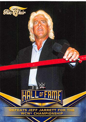 2018 Topps Heritage WWE Ric Flair Hall of Fame Tribute Part 3#24 Ric Flair Defeats Jeff Jarrett for the WCW Championshi