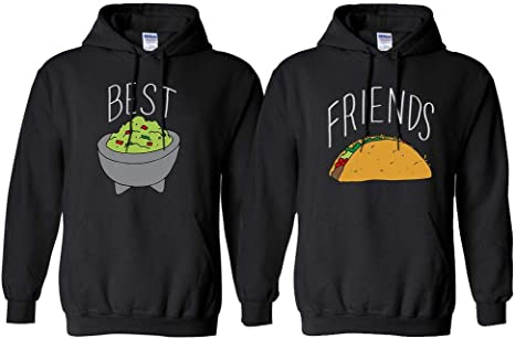 Guac and Taco Best Friend Duo Sweatshirt Mens//Unisex