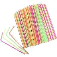 Vi.yo - 100 pajitas multicolores para fiestas
