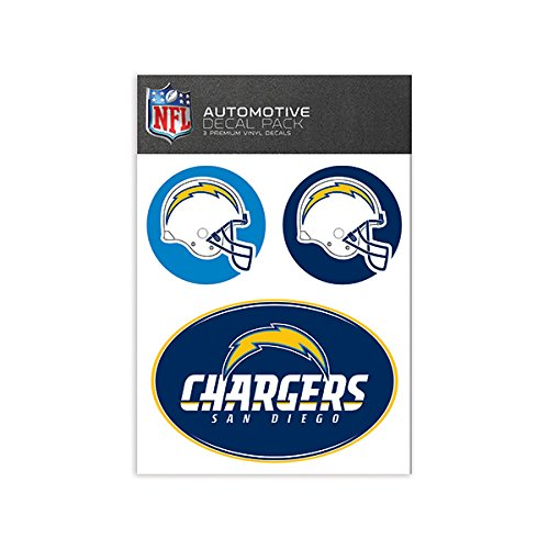 NFL San Diego Chargers Medium Decal Pack