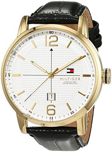 Tommy Hilfiger Herren-Armbanduhr Casual Sport Analog Quarz Leder 1791218