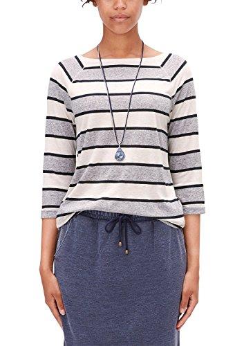 s.Oliver 608, T-Shirt Femme, Ecru (Creme Multicolored Stripe 02S1), XL