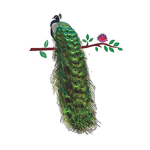 Cheap  TOOGOO(R) Beautiful Peacock Removable Mural Wall Sticker for Children Kids Bedroom Decor..