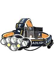 Oplaadbare hoofdlamp, ultrahelder, 8 led-zaklamp, met rode lichten, voor kamperen, fietsen, hardlopen, vissen