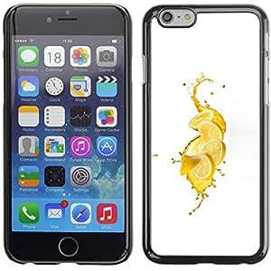 Paccase / SLIM PC / Aliminium Casa Carcasa Funda Case Cover para - Fresh Lemon Splash - Apple Iphone 6 Plus 5.5
