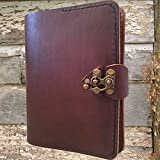 Leather bound journal notebook sketchbook diary guestbook by Papyrus Crafts