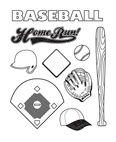 Karen Foster 9 peice Baseball Clear Stamp Set Karen Foster Baseball