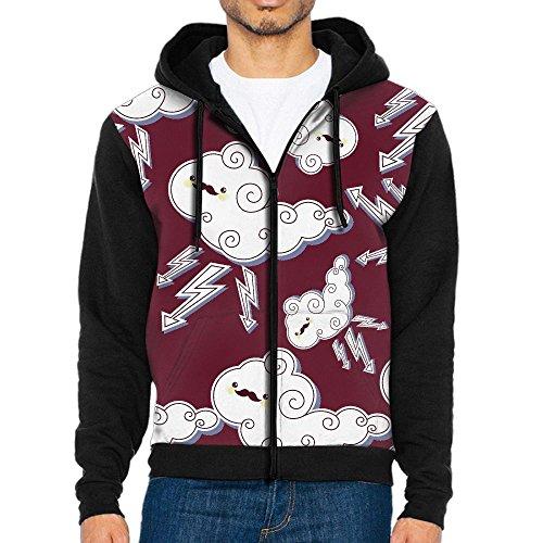 DO7Ss Hoodies Summer Thunderstorms Men 3D Print Hoodies Sweatshirt Zip-Up Hoodeds With Big Pockets