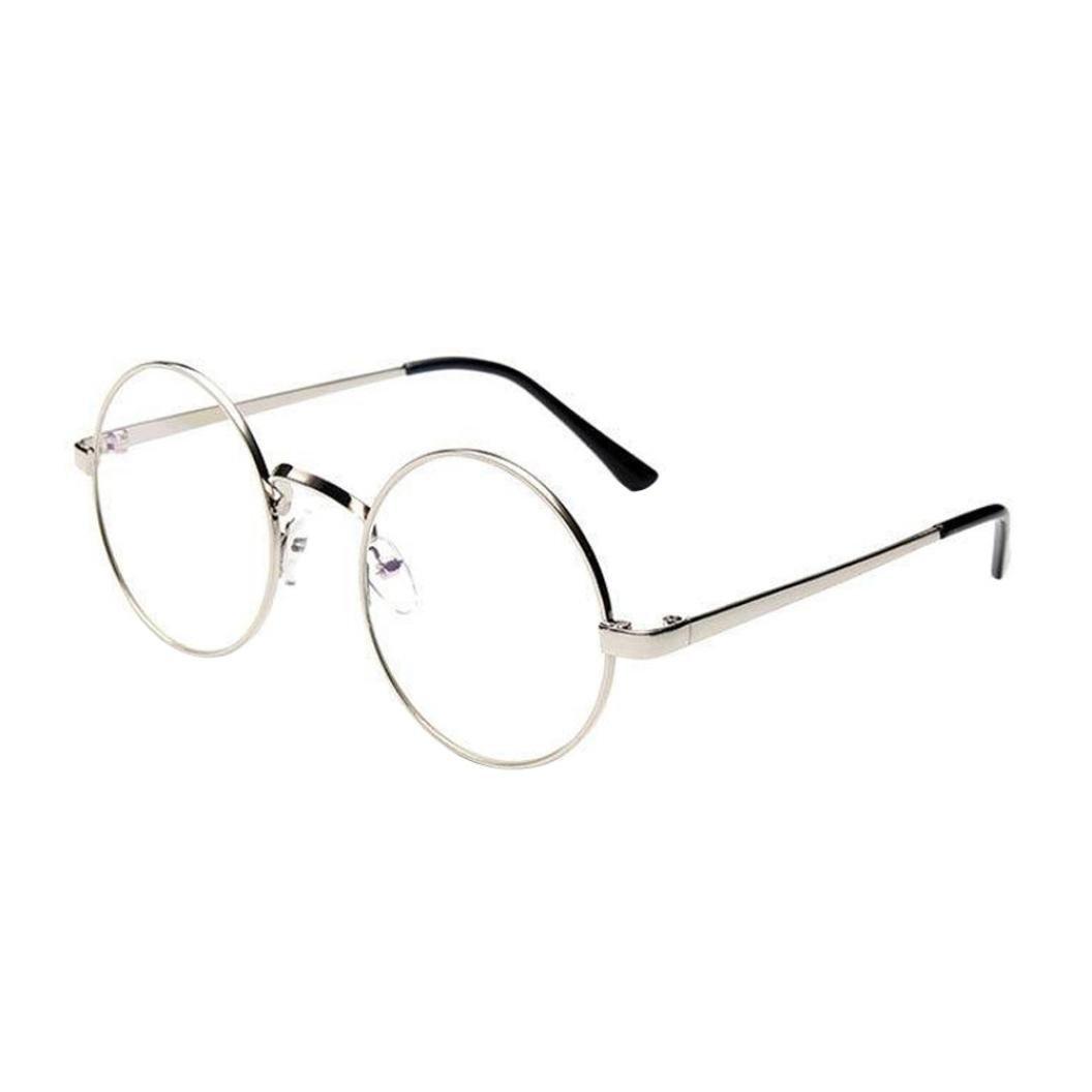 cff5967bca5ca5 Lunettes Rondes Vintage,Covermason Fashion Eyeglass Vintage Frame  Transparent Lunettes Retro uni Objectif Optique Verres Ronds Plats (B)   Amazon.fr  Sports ...