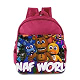 Toddler Kids Five Night At Freddy School Backpack Cool Baby Boys Girls School Bags Pink