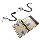 MonkeyJack Professional Dry Erase Basketball Coaching Clipboard with 2 Whistle