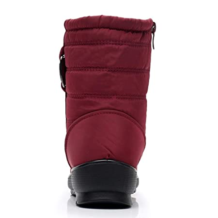 Botas de esquí Antideslizante de algodón con cordón de Piel de algodón Impermeable y Botas de esquí de LILICAT® Botas de Nieve para Mujer Botines ...