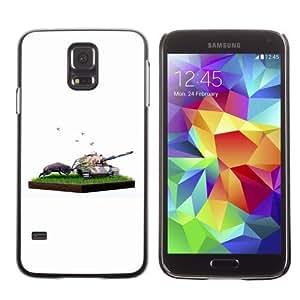 Designer Depo Hard Protection Case for Samsung Galaxy S5 / Nature VS War by icecream design