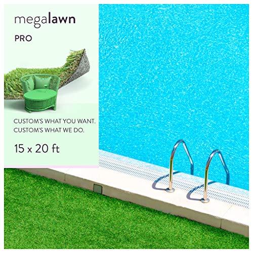 MEGAGRASS 15x20 Ft Lawn Pro Artificial Grass Rug