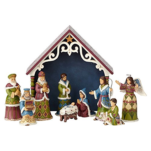 Enesco Jim Shore Heartwood Creek One Holy Night Victorian Mini Nativity 10-Piece Set Figurine (Nativity Shore Jim Set Mini)