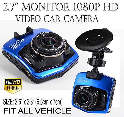 ICBEAMER 2.5'' Full-HD 1080P Fit All Vehicle DVR Interior Auto Video Recorder Dash Camera 1 pc